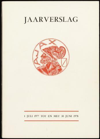 Jaarverslagen Vereniging (vanaf 1964) 1978-06-30