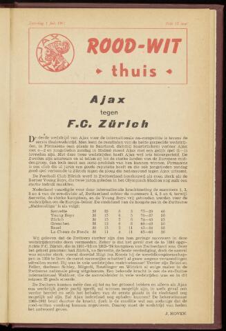 Programmaboekjes (vanaf 1934) 1961-07-01