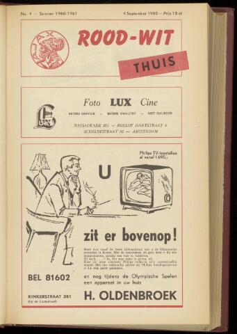Programmaboekjes (vanaf 1934) 1960-09-04