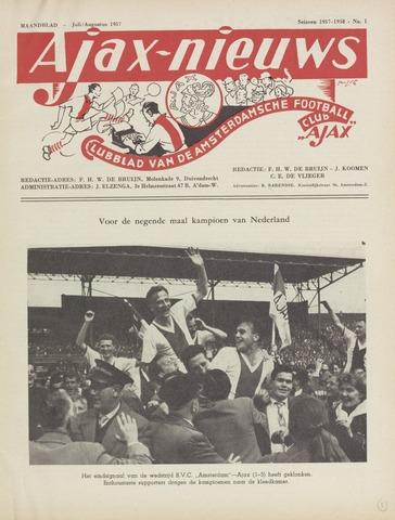 Clubnieuws Ajax (vanaf 1916) 1957-07-01