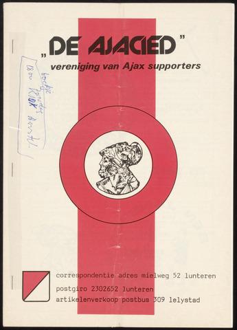 Clubblad De Ajacied (1997-2009) 1979-05-01