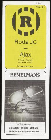 Programmaboekjes (vanaf 1934) 1988-01-17