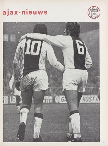 Clubnieuws Ajax (vanaf 1916) 1973-10-01