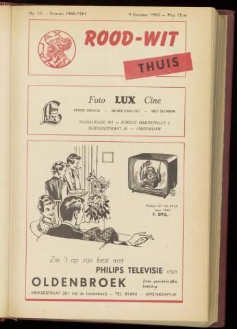 Programmaboekjes (vanaf 1934) 1960-10-09