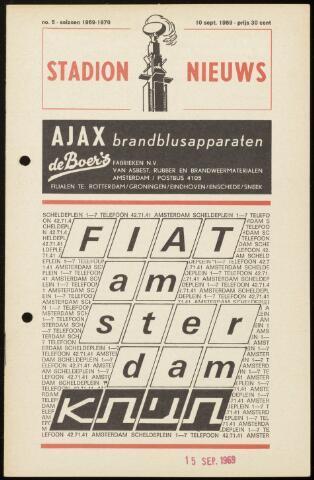 Programmaboekjes (vanaf 1934) 1969-09-10