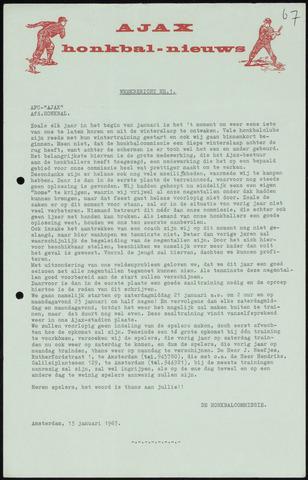 Honkbal nieuws (1963-1972) 1967-01-13