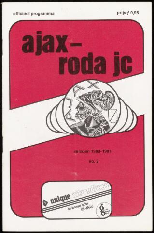 Programmaboekjes (vanaf 1934) 1980-08-27
