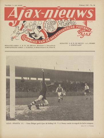 Clubnieuws Ajax (vanaf 1916) 1949-02-01