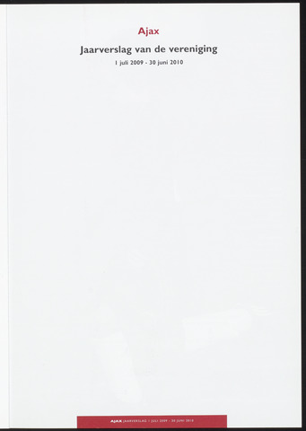 Jaarverslagen Vereniging (vanaf 1964) 2010-06-30