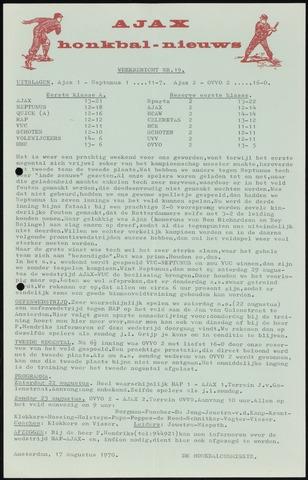 Honkbal nieuws (1963-1972) 1970-08-17