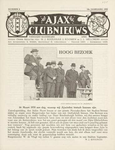 Clubnieuws Ajax (vanaf 1916) 1935-04-01