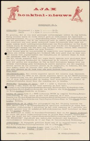 Honkbal nieuws (1963-1972) 1968-04-22