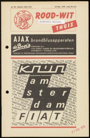 Programmaboekjes (vanaf 1934) 1970-02-25