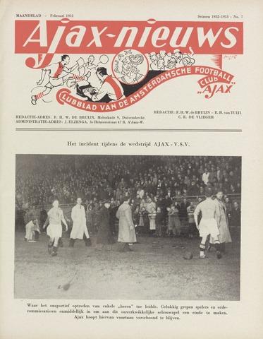 Clubnieuws Ajax (vanaf 1916) 1953-02-01