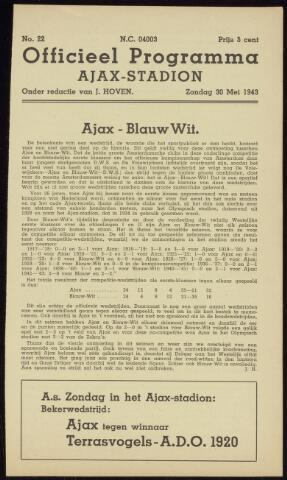 Programmaboekjes (vanaf 1934) 1943-05-30