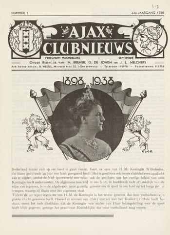 Clubnieuws Ajax (vanaf 1916) 1938-09-01