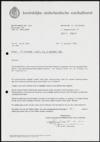Voetbal divers 1984-12-13