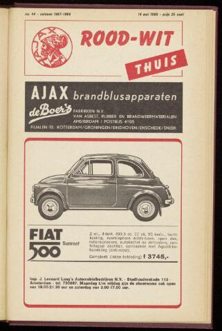 Programmaboekjes (vanaf 1934) 1968-05-14