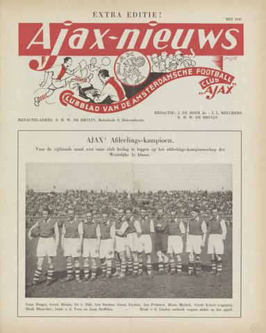 Clubnieuws Ajax (vanaf 1916) 1947-05-01