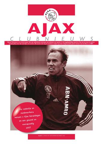 Clubnieuws Ajax (vanaf 1916) 2006-11-01