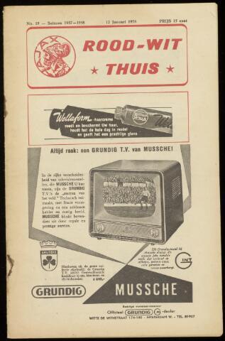 Programmaboekjes (vanaf 1934) 1958-01-12
