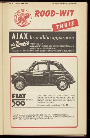Programmaboekjes (vanaf 1934) 1966-09-25
