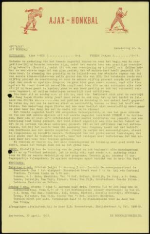 Honkbal nieuws (1963-1972) 1963-04-30