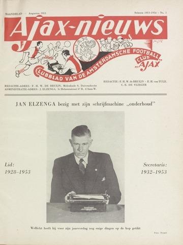 Clubnieuws Ajax (vanaf 1916) 1953-08-01