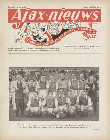 Clubnieuws Ajax (vanaf 1916) 1951-12-01