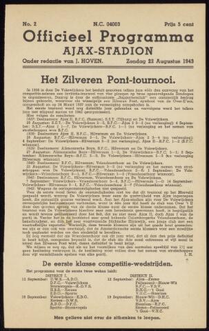 Programmaboekjes (vanaf 1934) 1943-08-22