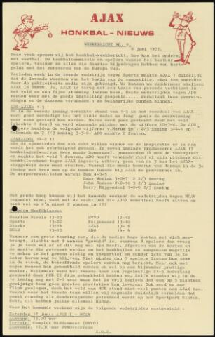 Honkbal nieuws (1963-1972) 1971-06-06