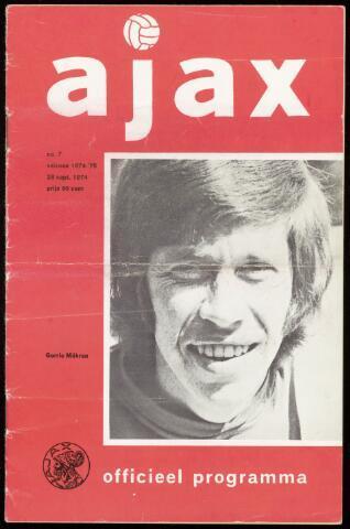 Programmaboekjes (vanaf 1934) 1974-09-28