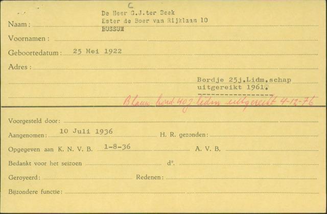 Ledenkaarten (1911-1989) 1936