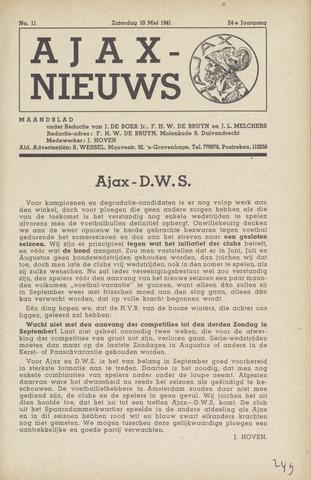 Clubnieuws Ajax (vanaf 1916) 1941-05-10