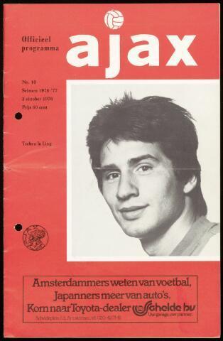 Programmaboekjes (vanaf 1934) 1976-10-03