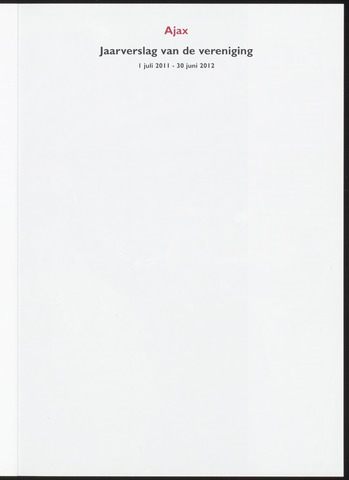 Jaarverslagen Vereniging (vanaf 1964) 2012-06-30