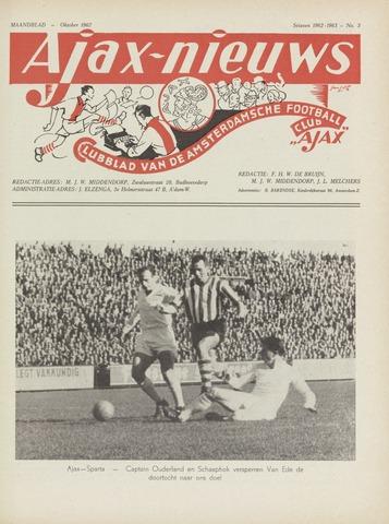 Clubnieuws Ajax (vanaf 1916) 1962-10-01