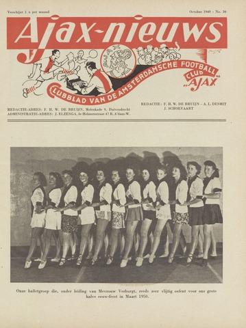 Clubnieuws Ajax (vanaf 1916) 1949-10-01