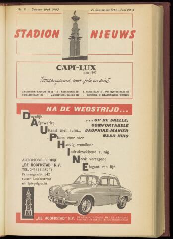 Programmaboekjes (vanaf 1934) 1961-09-27