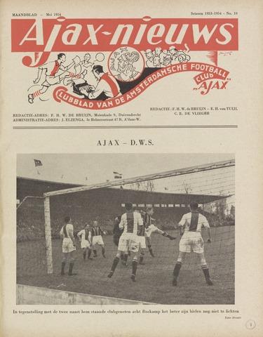 Clubnieuws Ajax (vanaf 1916) 1954-05-01