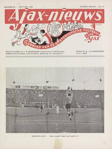 Clubnieuws Ajax (vanaf 1916) 1966-09-01