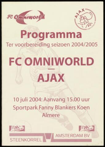 Programmaboekjes (vanaf 1934) 2004-07-10