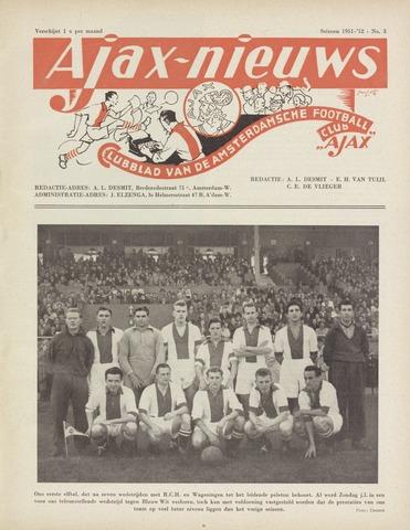 Clubnieuws Ajax (vanaf 1916) 1951-11-01