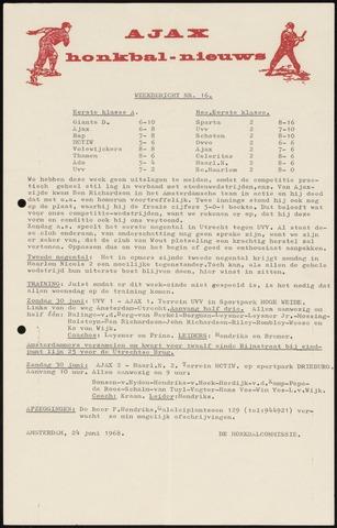 Honkbal nieuws (1963-1972) 1968-06-24