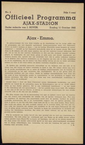 Programmaboekjes (vanaf 1934) 1942-10-11