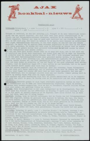 Honkbal nieuws (1963-1972) 1964-04-13