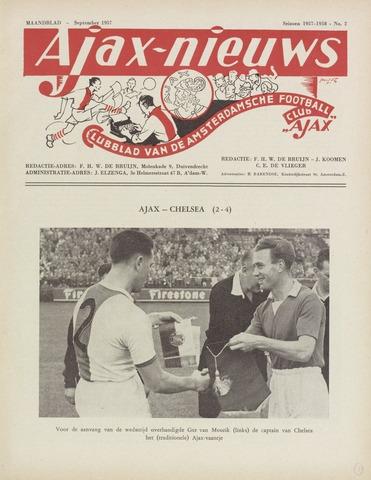 Clubnieuws Ajax (vanaf 1916) 1957-09-01