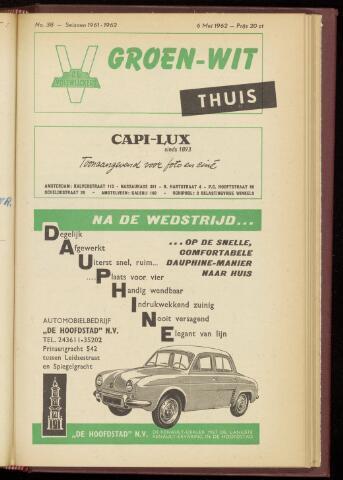 Programmaboekjes (vanaf 1934) 1962-05-06