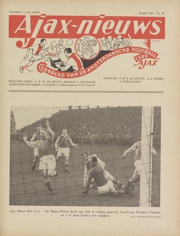 Clubnieuws Ajax (vanaf 1916) 1949-01-01