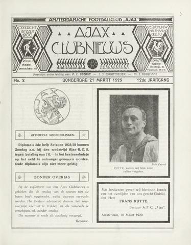 Clubnieuws Ajax (vanaf 1916) 1929-04-01